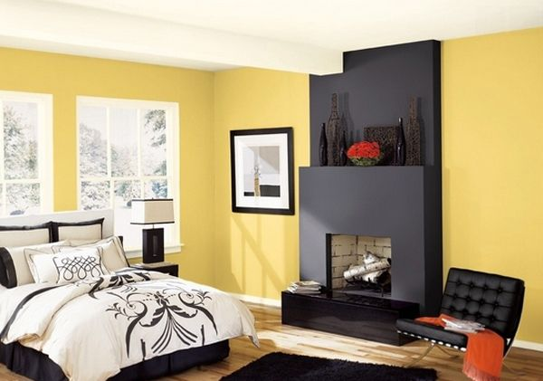 20 Sophisticated Black and Yellow Bedrooms | Comfortable Bedrooms ...