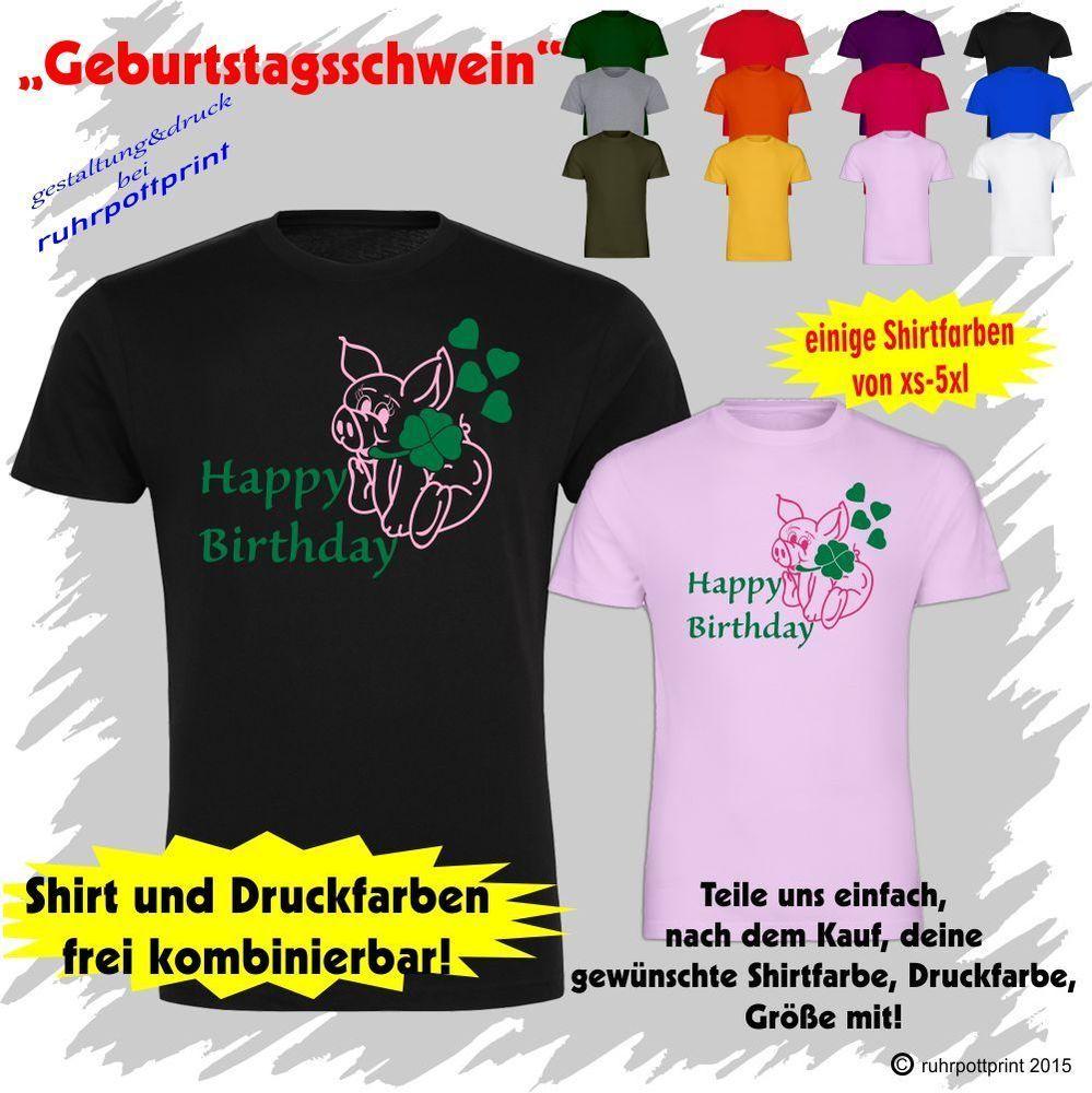 Geburtstagssshirt  Happy Birthday  Geschenk Geburtstag T-Shirt