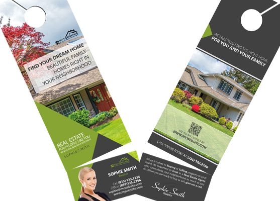 Real Estate Door Hanger Rip Cards Template 08 Door Hanger Rip Cards Art Business Cards Printing Business Cards Modern Business Cards