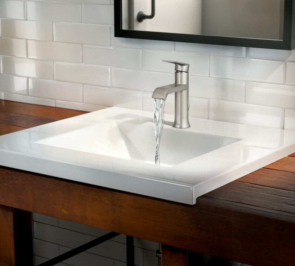 Genta Single-Handle Bathroom Faucet in Spot Resist Brushed Nickel ...