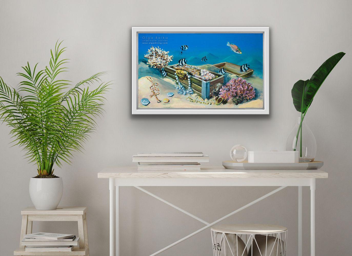 Chest with Fairy, Mixed media on canvas, 30 x 50 cm Worldwide Shipping, Link for order #artroomsapp #artportfolio #paintingsdaily #loveart #artroom #painting #artprojects #artspace #artroomdecor #artforeveryone #todaysart #studioart #livingroom #interiordesing #decoration #interior4you #artforsale #interiorstyling #home #interior4all #homestyle #interiorforyou #homedeco #interiordesign #homelovers #housedecoration #housedecor #homeinterior #homedesign #interiordecoration