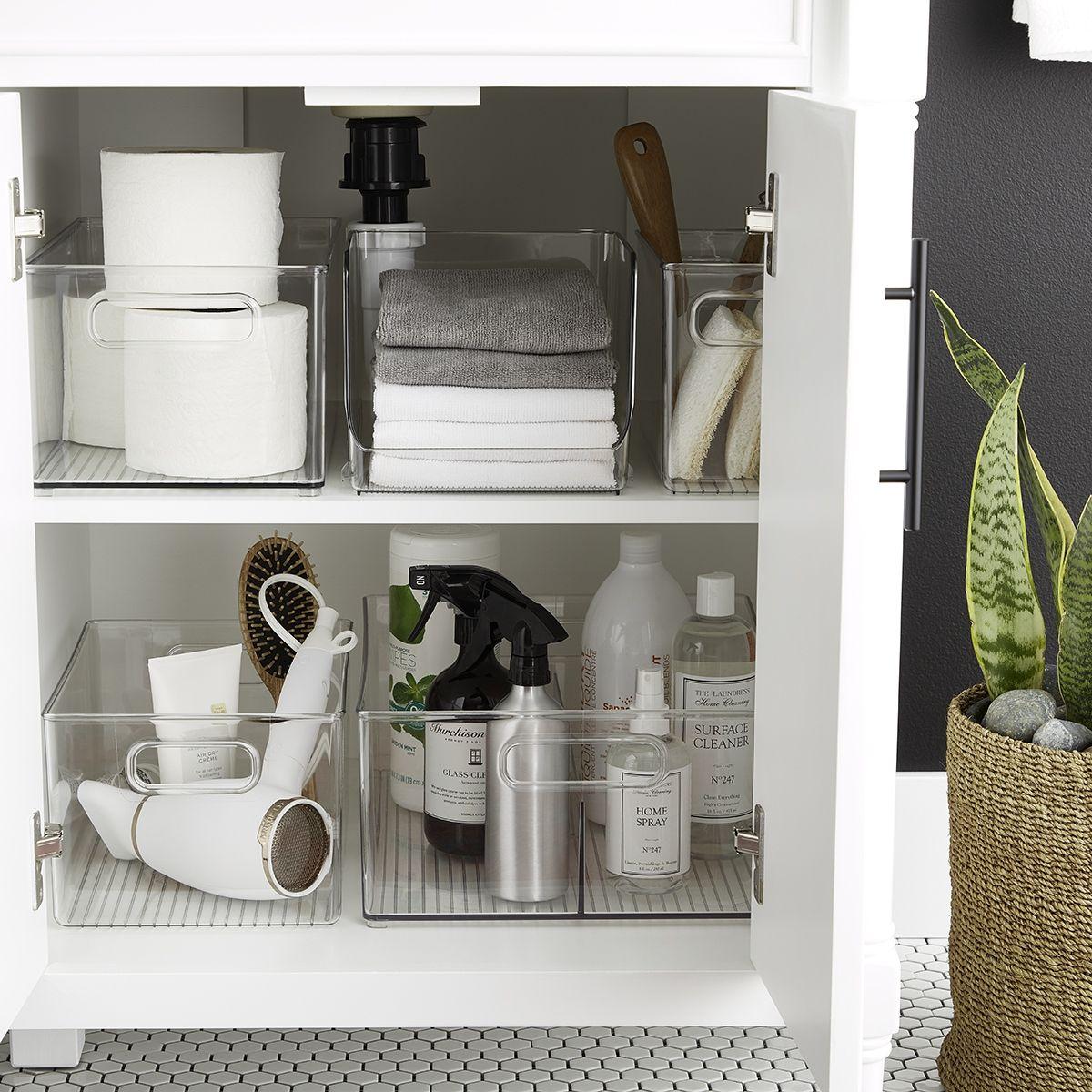 Our Favorite Ways To Keep Bathroom Sinks Organized Bathroom Sink Organization Bathroom Organisation Diy Bathroom Storage
