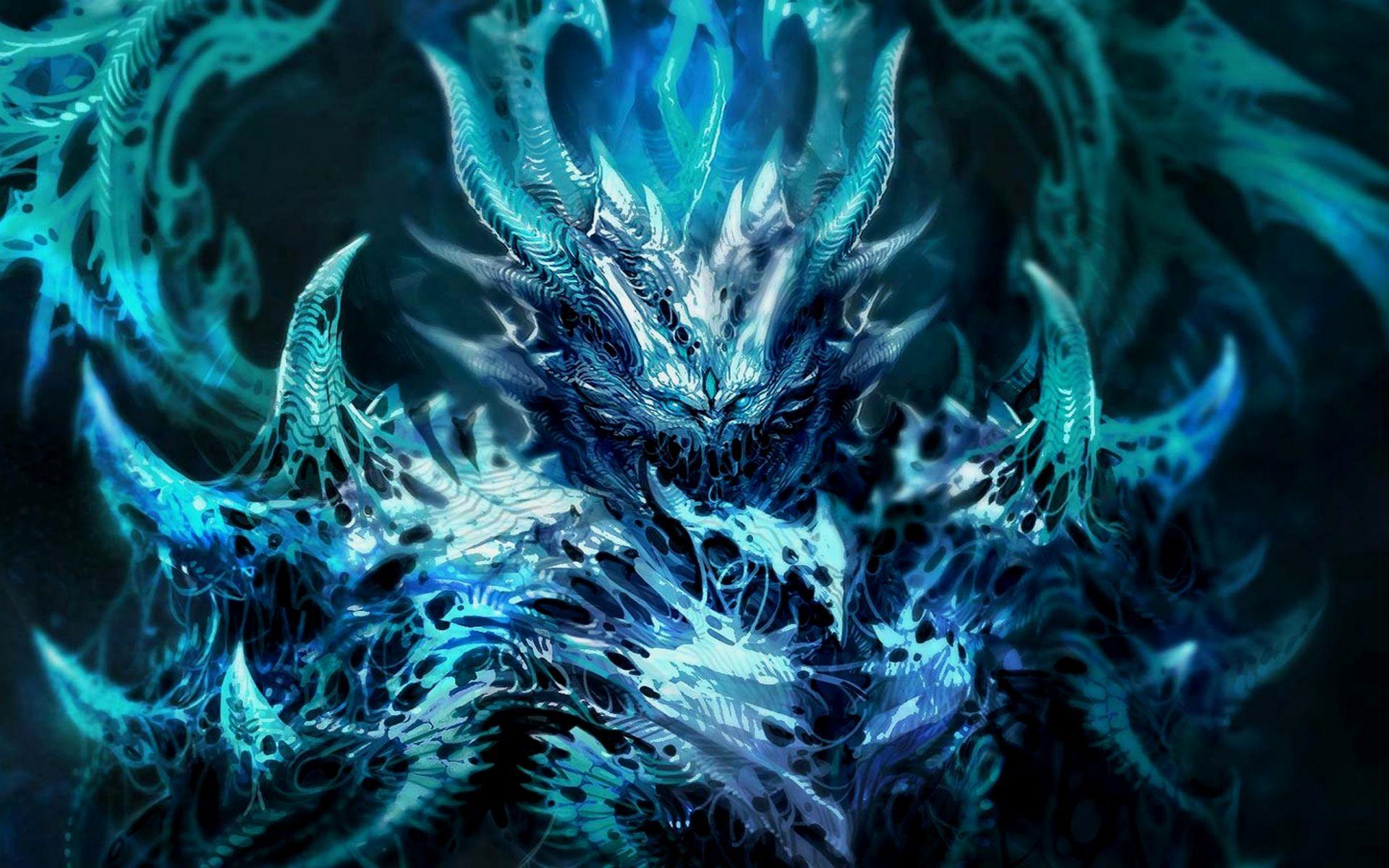 Dark Fantasy Demon Satan Angel Monster Creature 3d Magic Horns Blue Art Evil Wallpaper 1920x1200 27836 Wallpaperup Fantasy Demon Cool Dragons Dark Evil