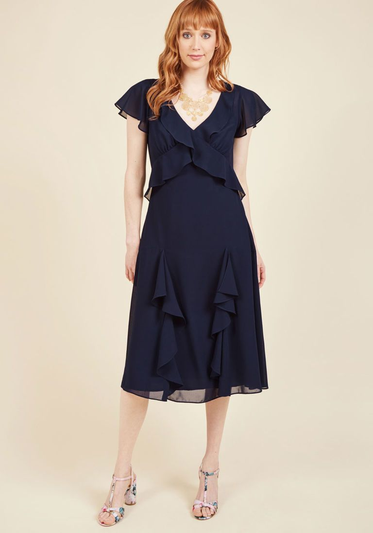 Memories in motion midi dress in midnight in products