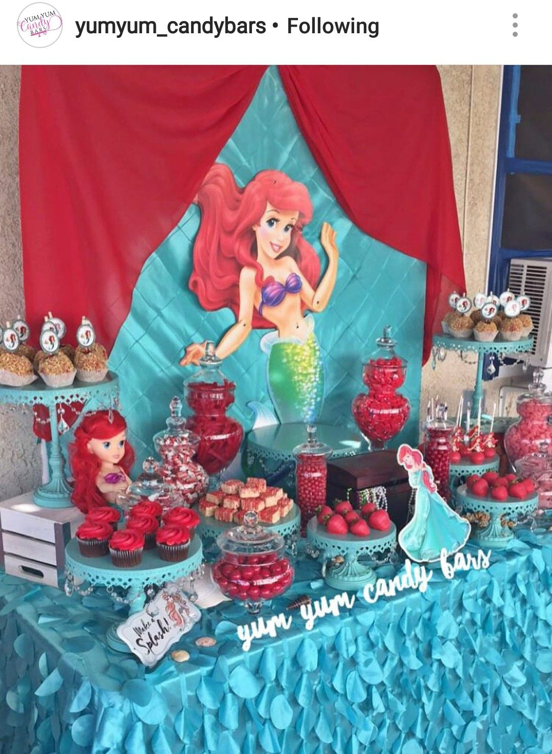 Ariel The Little Mermaid Dessert Table And Decor Kids Party Themes Little Girl Birthday Kids Party