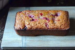 One-Bowl Cranberry Sauce Bread #cranberrysauce