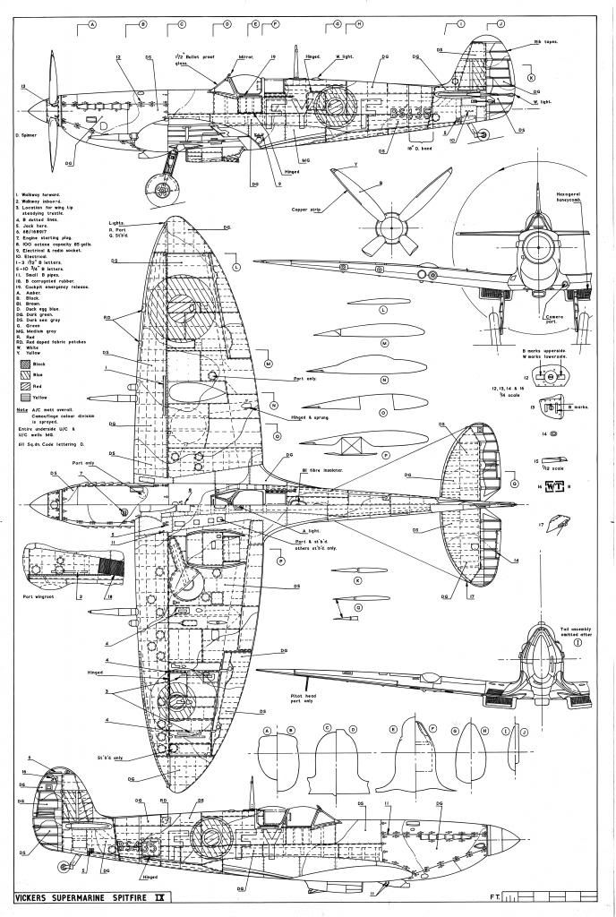 Spitfire Airplane Schematics Or Drawings Great