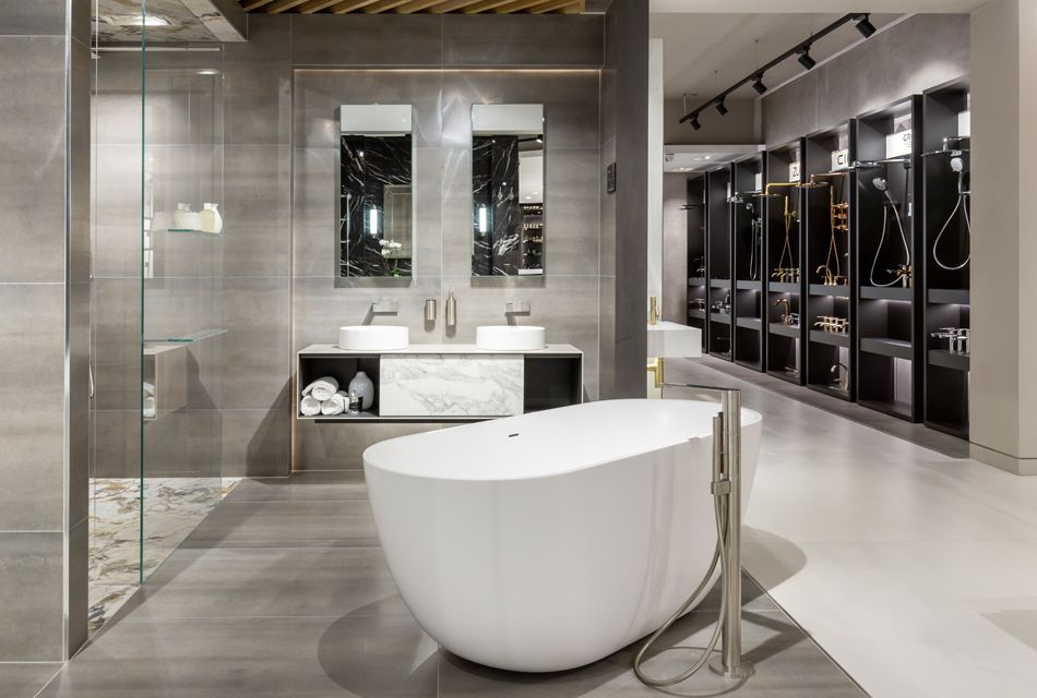 Tbk Design Bathrooms London Showroom Interior Design Showroom Design Bathroom Showrooms