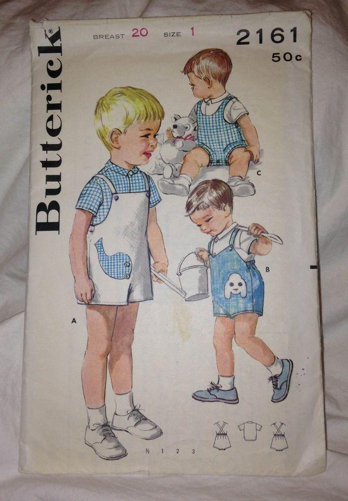 Vintage Butterick #2161 Pattern Size 1 #Butterick