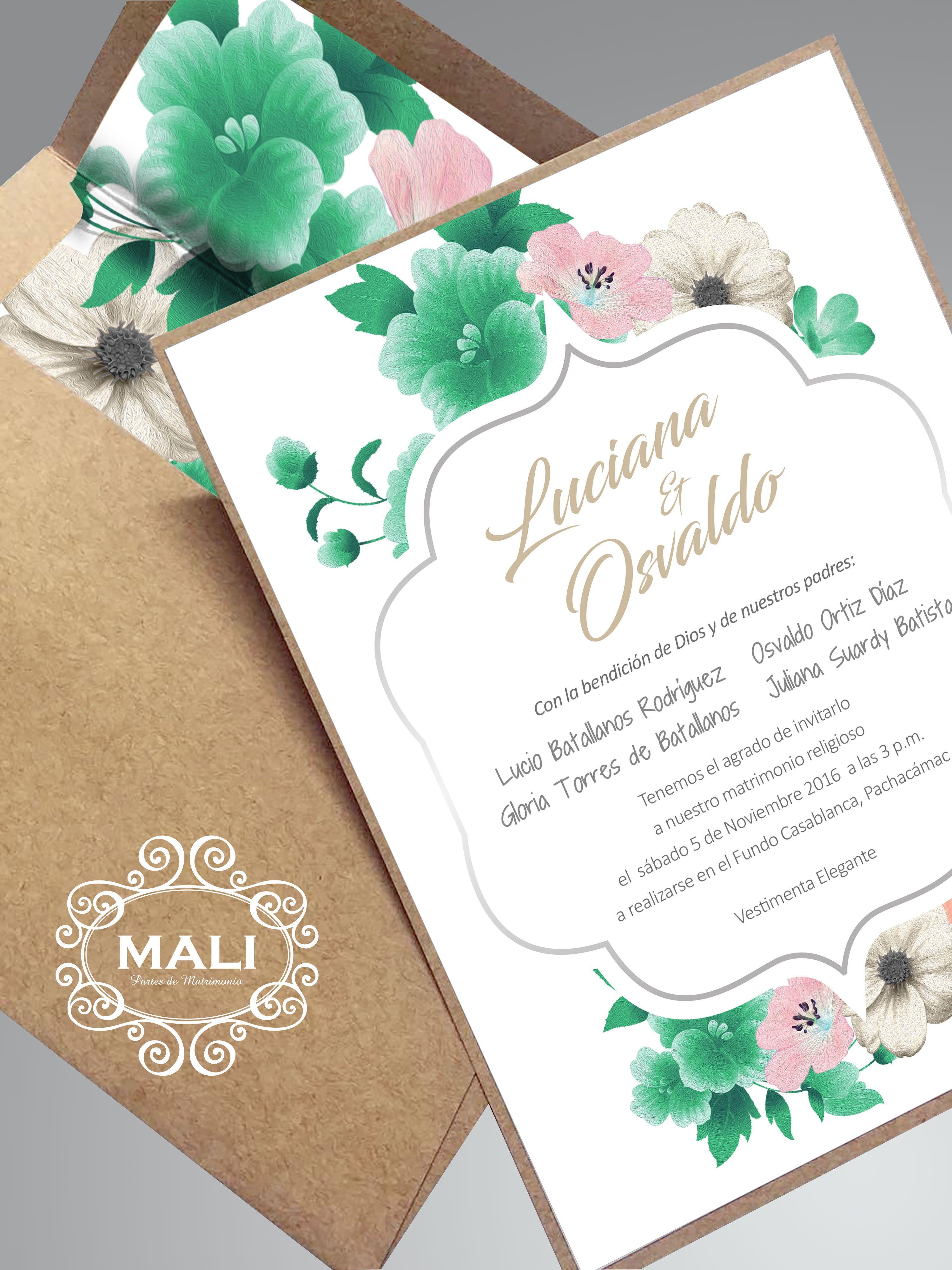 Parte Floral Campestre De 14 X 19 Cm Facebook Mali Matrimonio Mali
