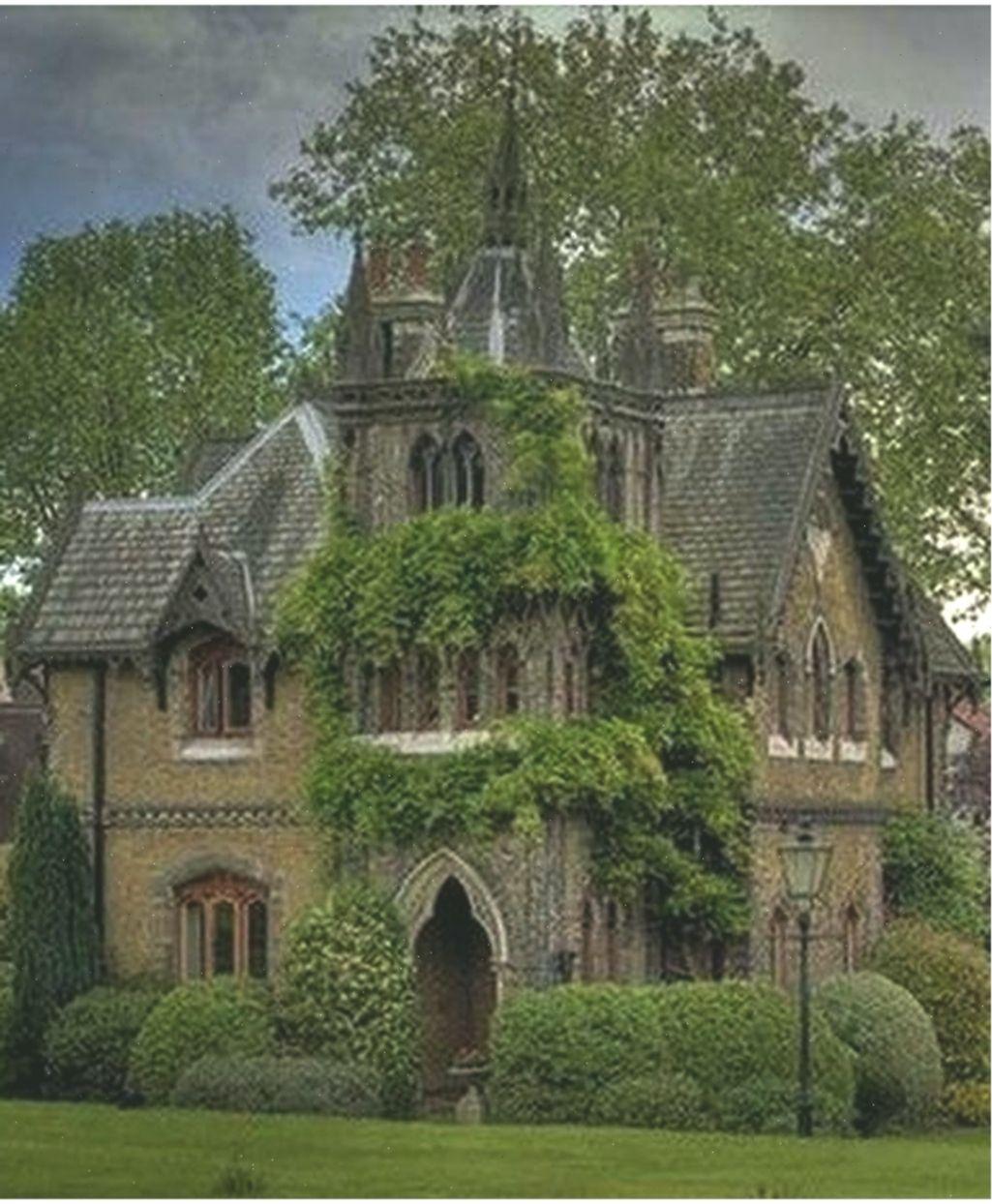 34 Amazing Gothic Revival House Design Ideas Spanish Style Gothichouseexterior Amazing Design Gothic Gothichouse Gothic House Victorian Homes Architecture