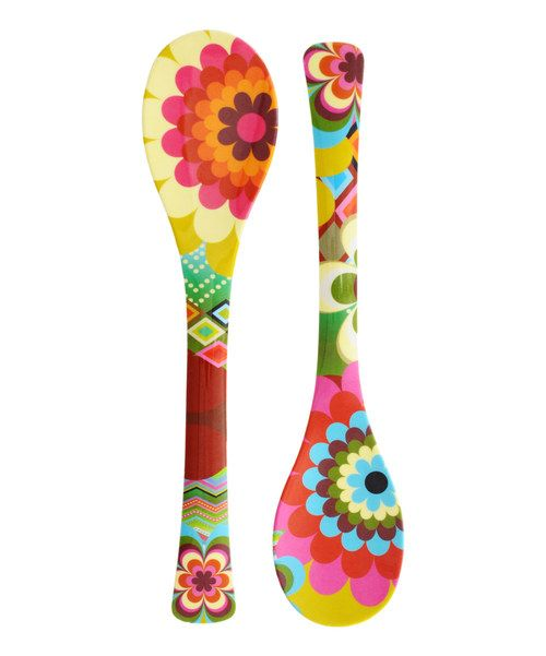 Look at this Mosaic Salad Server Set on #zulily today!