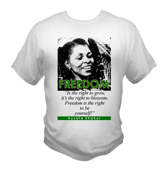 453b2c57d Assata Shakur Freedom Quote Afrocentric T-Shirt Graphic Tee ...