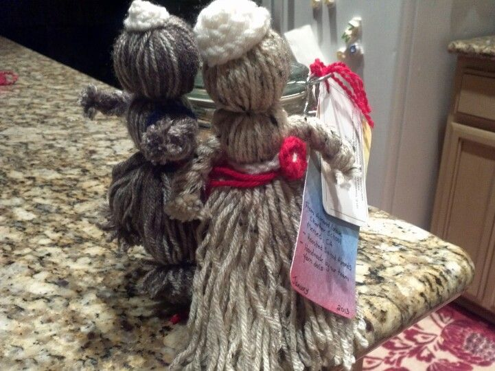 Donation for Alliance for Public Waldorf Education Auction.  I hand made the yarn dolls and we added roasted salted almonds.