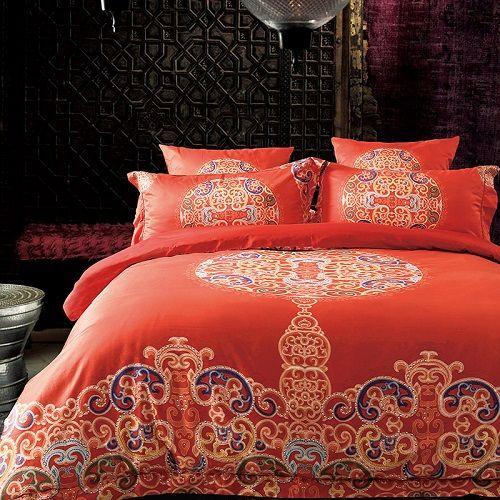 Luxury Bohemia Mandela Bedding Set 100S Egypt Cotton Queen/King Size  Tribute Silk Bed Set Duvet Cover Bedsheet Pillowcase In Bedding Sets From  Home U0026 Garden ...