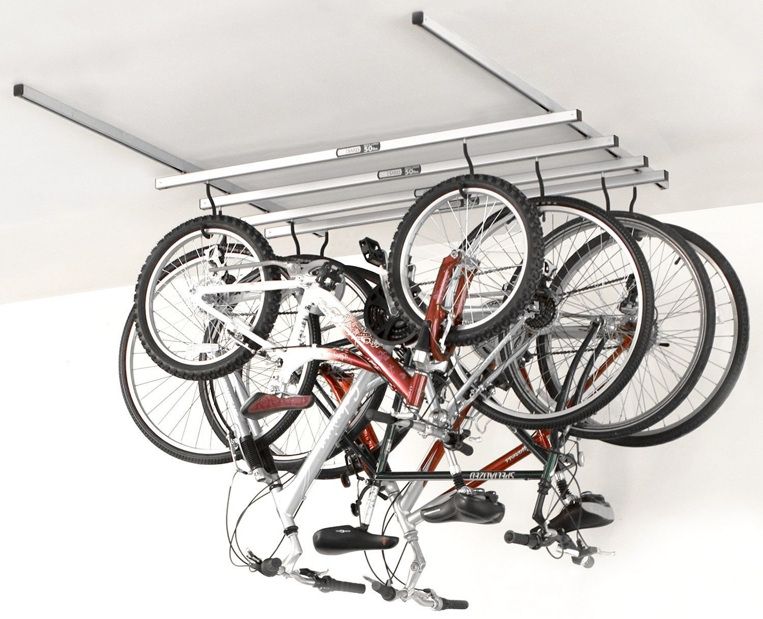 Bike Rack For The Garage Ceiling Bike Rack Rail Garage Bikes Pinterest Bike Storage