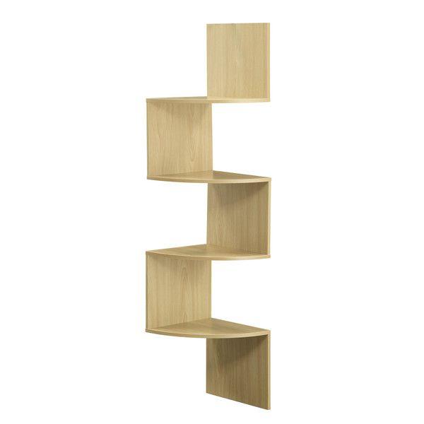 Attractive Hanging Corner Storage Shelves (Maple), Brown