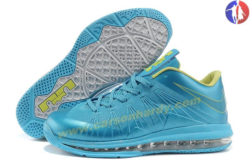 2014 Royalblue Yellow Nike Air Max Lebron 10 Low | New Kobe