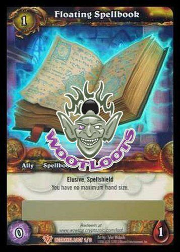 Details about Floating Spellbook Loot Card World of