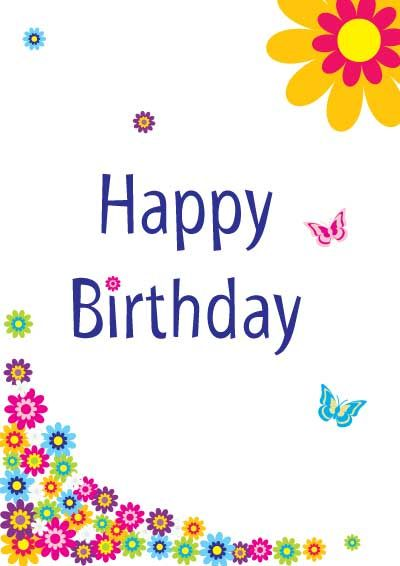 Birthday Card With Butterflies Jpg 400 566 Pixels Happy Birthday Cards Printable Free Printable Birthday Cards Happy Birthday Cards
