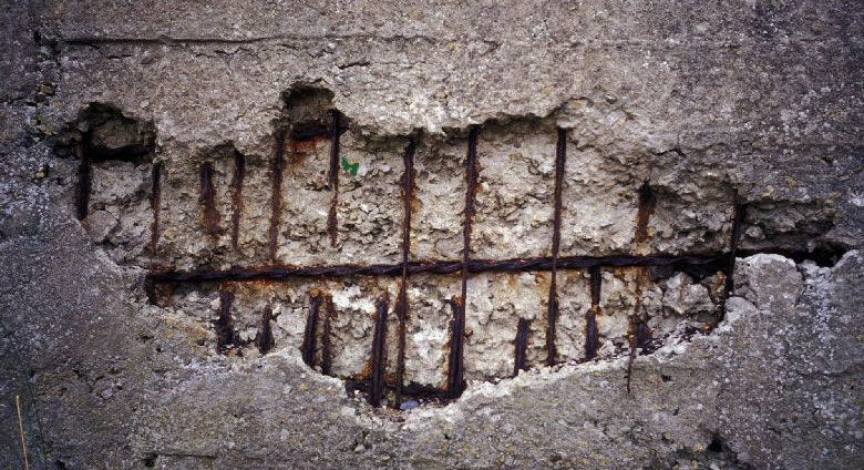 Mortier Rebouchage Reparation Fibre Trou Beton Beton Beton Arme Mortier