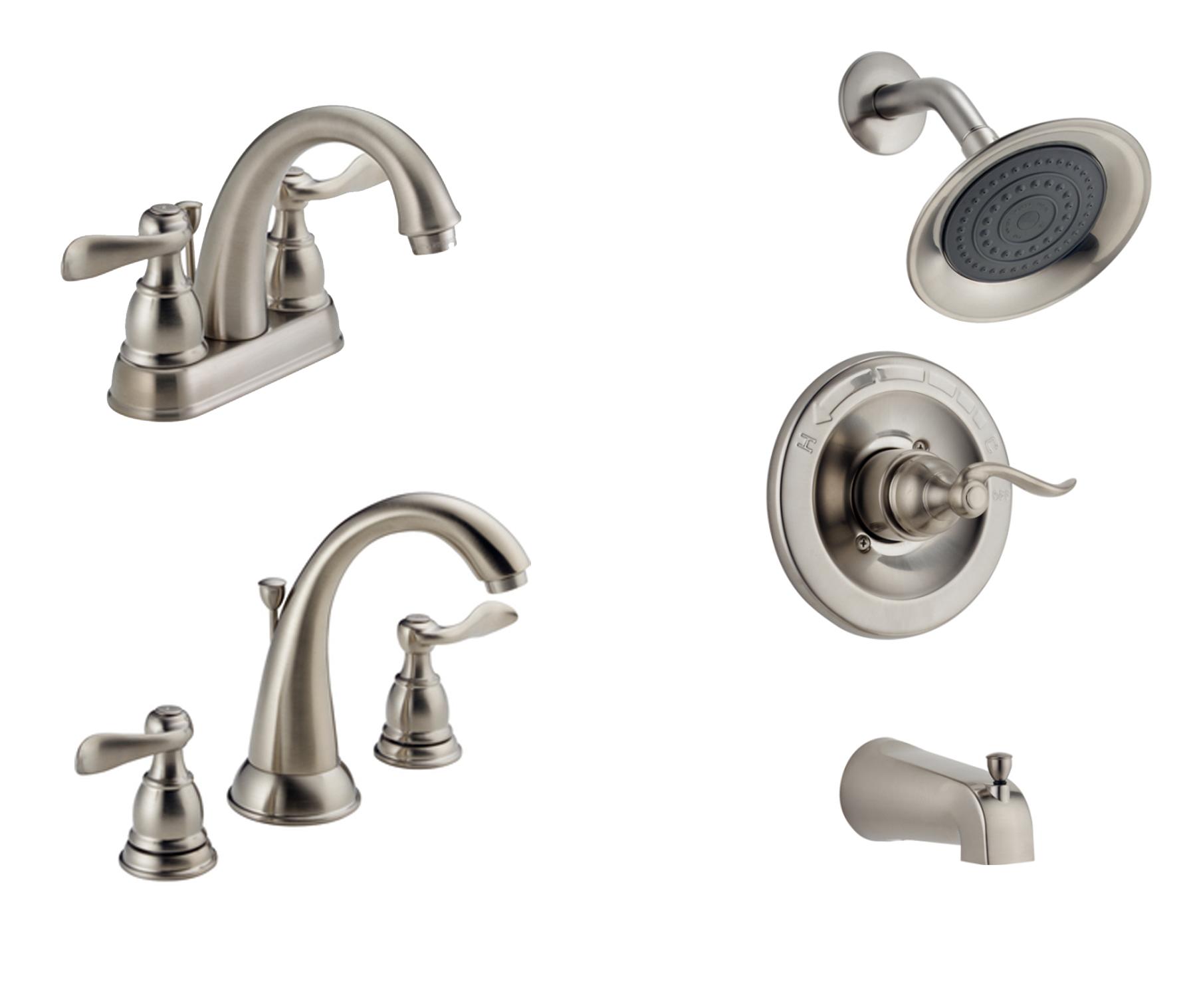 Bathroom Plumbing Fixtures | Delta Windemere | Brushed Nickel ...