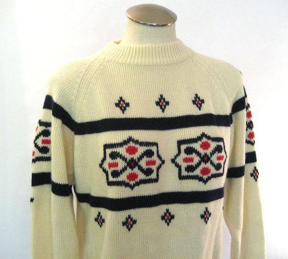 vintage 80s Norwegian sweater / Swedish Design   #vintage #vintagesweater #etsyvintage