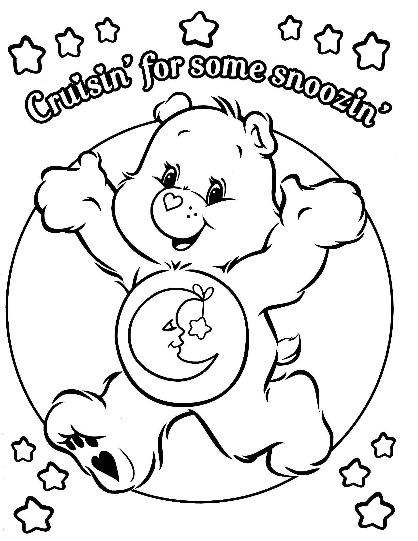 coloring pages for care bares - photo#28