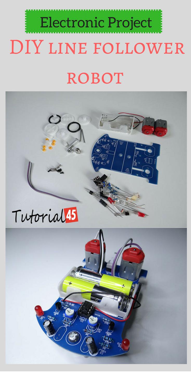 Electronic Project DIY Line Follower Robot Electronics