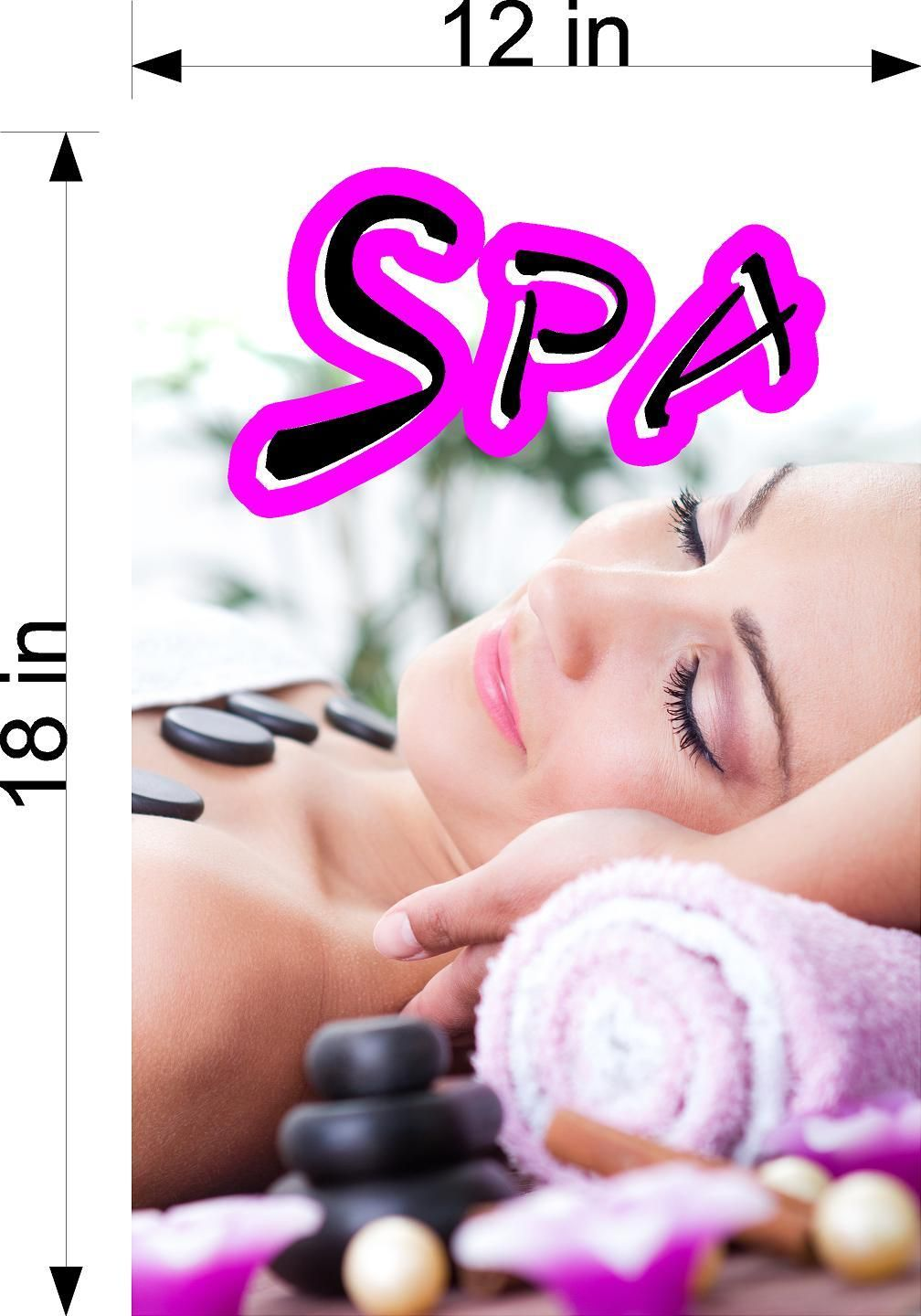 Spa 08 Vertical Wallpaper Poster Decal With Adhesive Backing