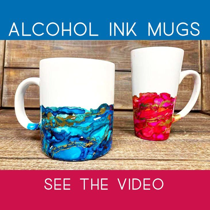 Make this: Colorful Alcohol Ink Mug | Craft Warehouse
