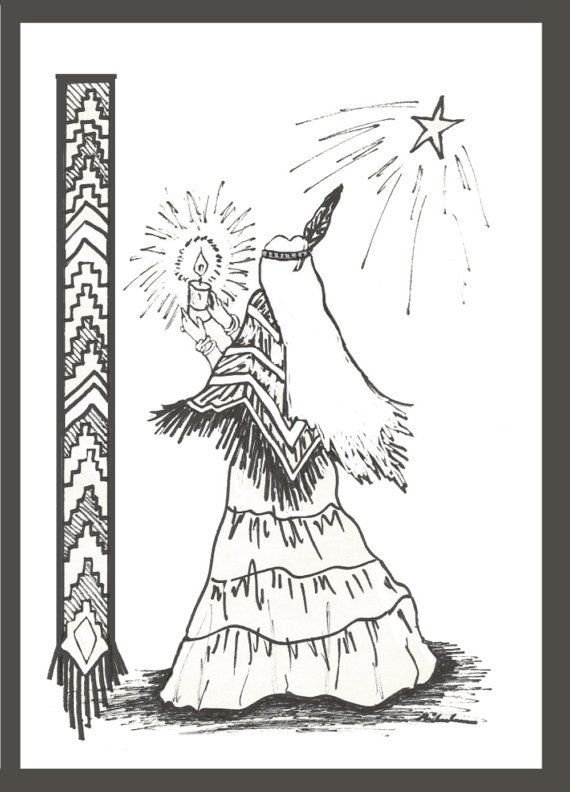 Coloriing Pages Christmas Crafts Native American Be By Colorforfun 1 00 Christmas Coloring Pages Coloring Pages American Neon