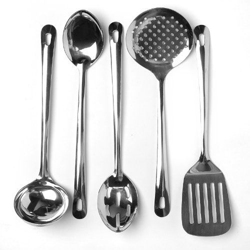 Cooks Corner 5piece Stainless Steel Kitchen Utensil Set Check This Awesome Product By Going To The Link At Image Note It Is Affiliate