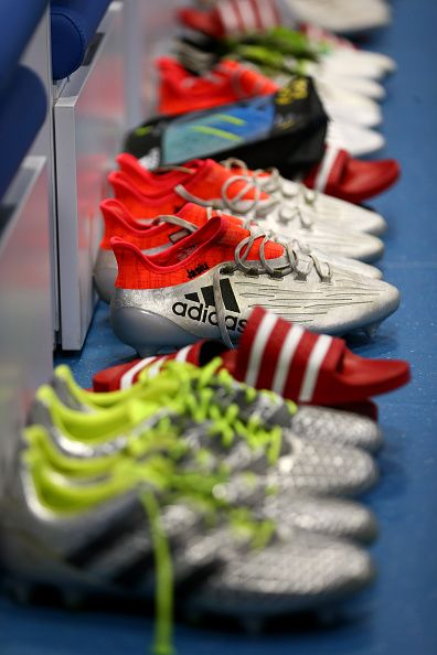 dd92278ed90de  EURO2016 The boots worn by Poland players are seen in the dressing room  prior to the UEFA EURO 2016 quarter final match between Poland and Portugal  at ...