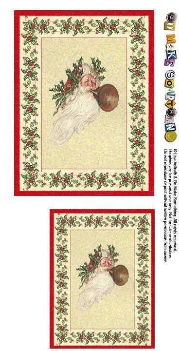 pour continuer ce tour des miniatures destinées aux mini vitrines et maisons de poupée, une image vintage forme le centre de ce tapis : tag, carte, page de mini album... qu'allez-vous en faire ?...