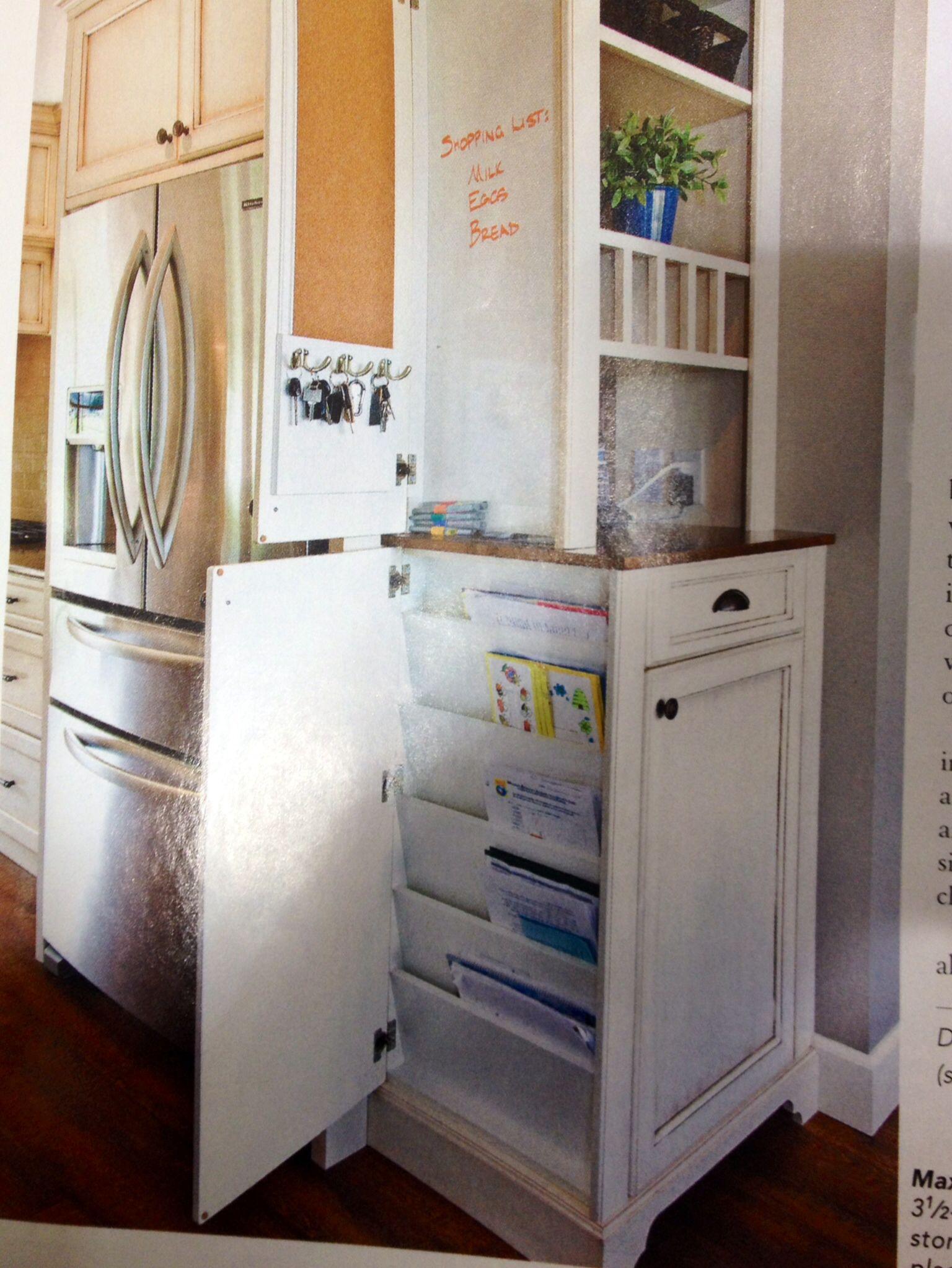 Kitchen Message Center Design Possibility