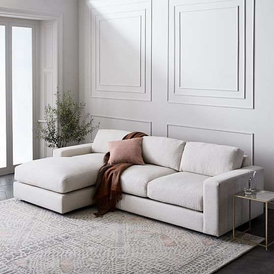 Urban 2 Piece Chaise Sectional Reclining Sectional With Chaise