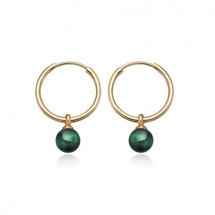 f8125d699 Malachite Vera Drop Hoop Earrings | Astley Clarke London #malachite # hoopearrings #gold #hoops