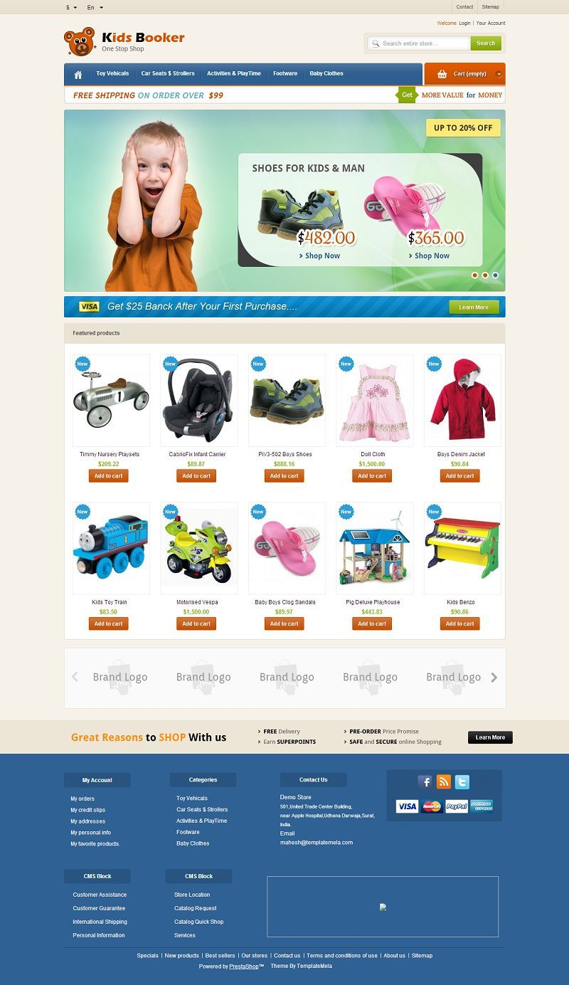 PRS060134 - Responsive PrestaShop Theme for Kids Store