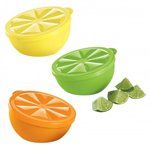 Citrus Keepers:          Keep lemons, limes, oranges and more extra fresh. Set of three.Thank you for your generous support. $10.80 of your purchase will be donated to the benefitting organization.Lemonade/Lime/Orange PeelDishwasher safeLimited Lifetime WarrantyColors may vary and substitutions may occur.    Item:10119458000