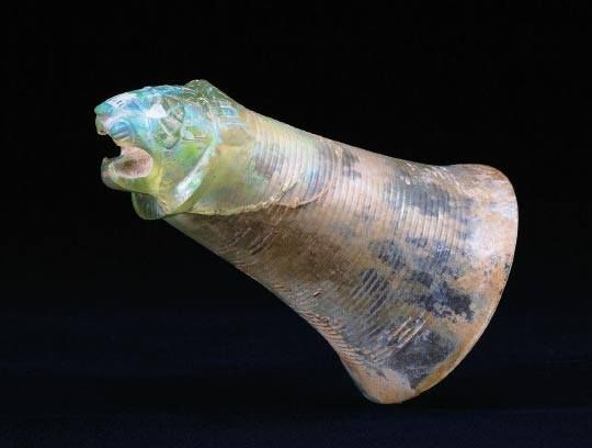 Achaemenid glass rython, ca 500 BCE.