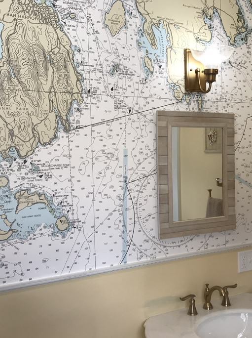 Pin By Lynne Orlando On Bathroom In 2020 Nautical Wallpaper Map Wallpaper Nautical Map