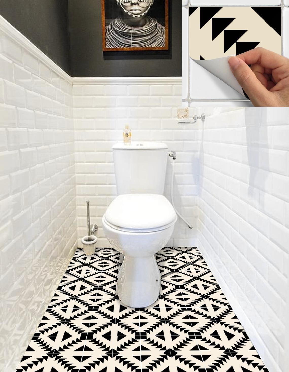 Tile Sticker Kitchen Bath Floor Wall Waterproof Removable Peel N Stick W010beige Poly Dlya Vannoj Sovremennyj Tualet Vannaya V Kvartire