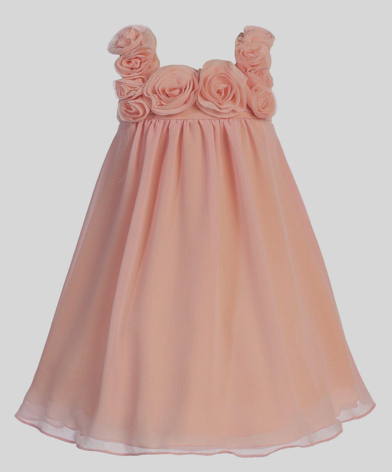 cbc8279a3 Vestidos Niña de las Flores, Color Coral | vestidos espectaculares ...