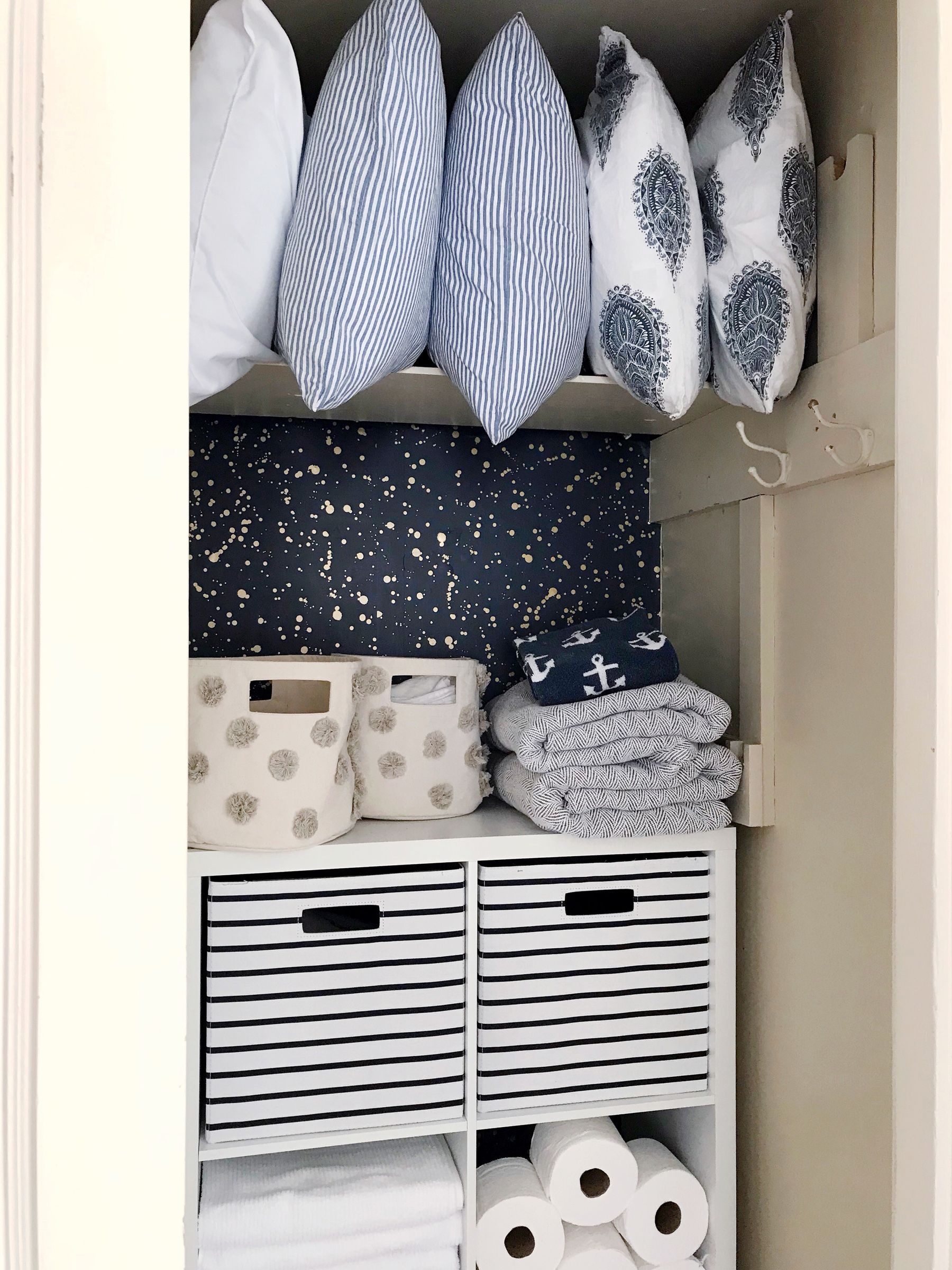 Linen Closet Makeover Domestikatedlife Linen Closet Organization Linen Closet Makeover Linen Closet