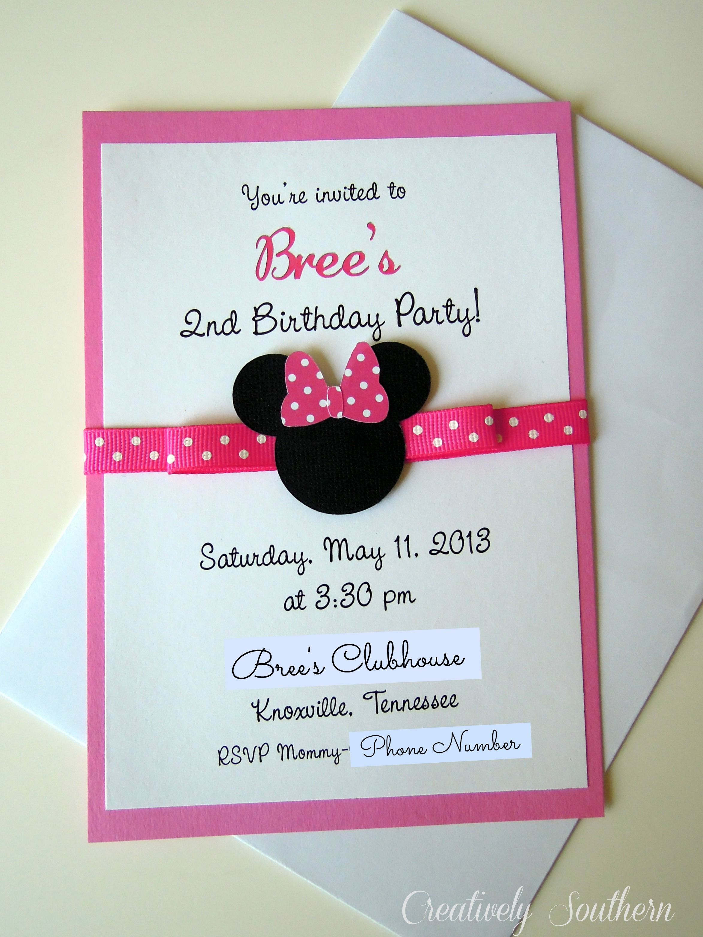 17 Best images about Dulcero de minnie – Minnie Invitations for Birthdays
