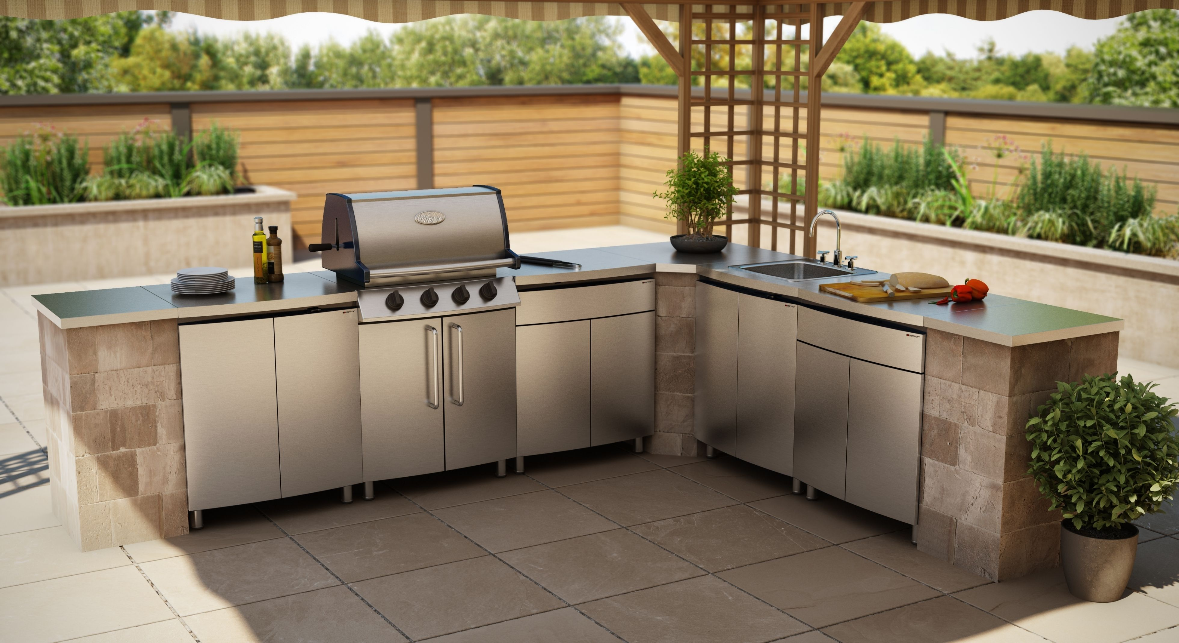 Stainless Steel Outdoor Kitchen Cabinets Outdoor Kitchen Outdoor Kitchen Design Kitchen Countertops