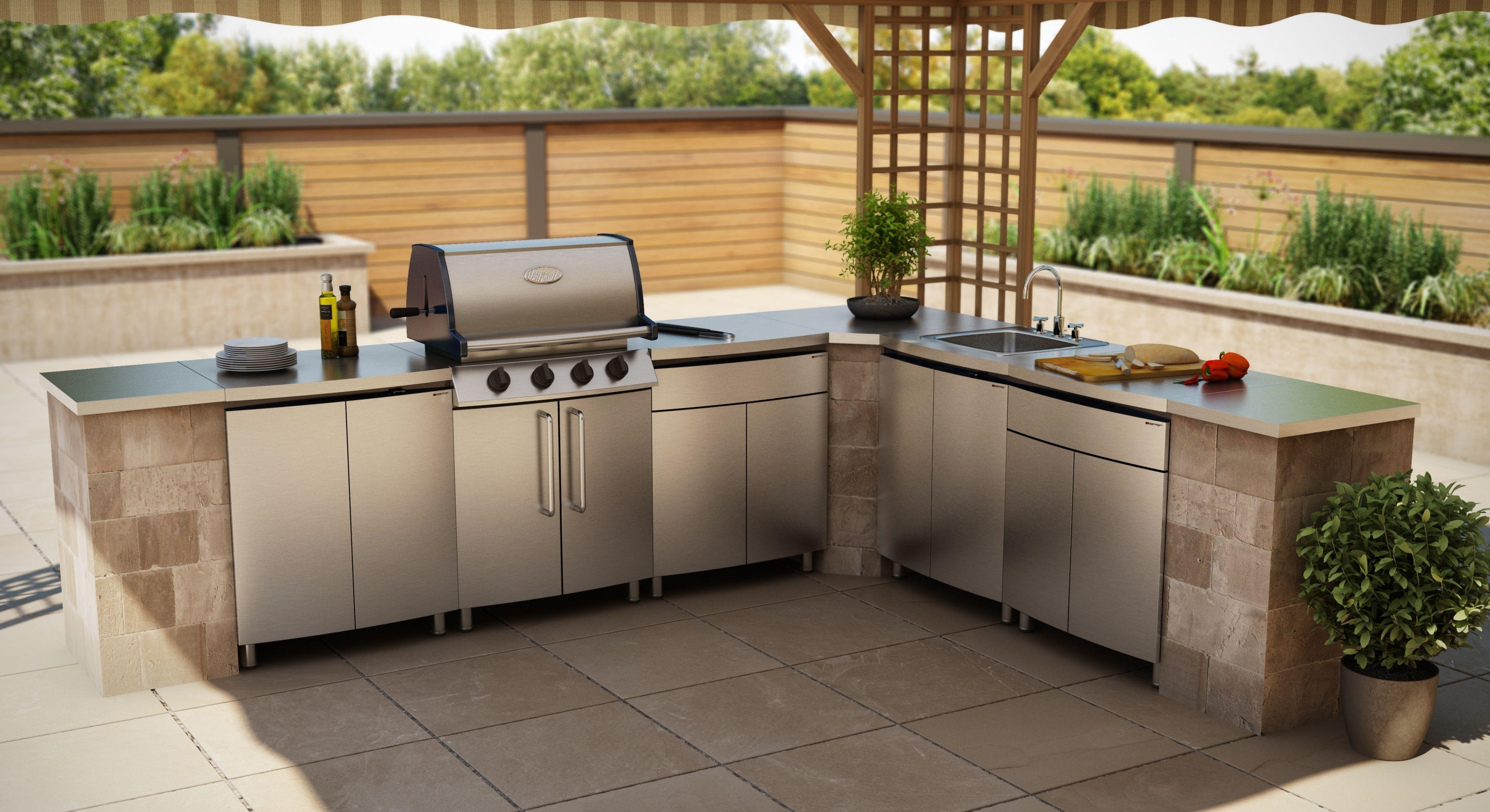 Stainless Steel Outdoor Kitchen Cabinets Outdoor Kitchen Design