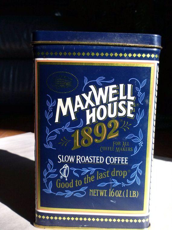 1892 Nostalgia Maxwell House Coffee Tin Coffee Tin