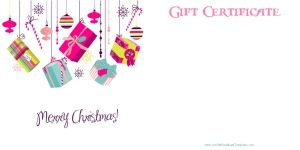 christmas gift certificate templates with a certificate maker that